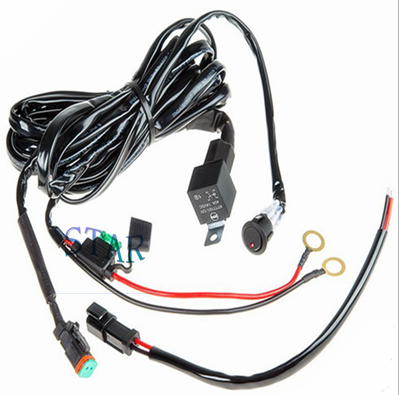 car single light bar wire harness
