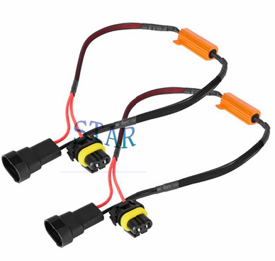 9005 9006 HB3 Fog Light  Wiring Harness with Resistor