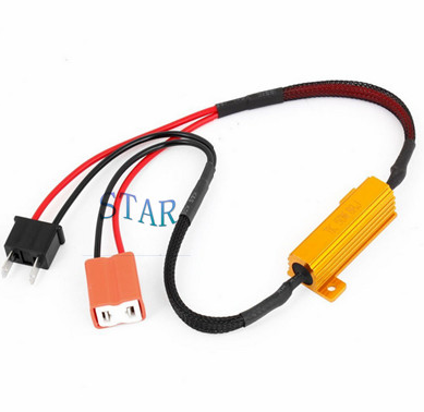 Car H7 Fog Light Wire Harness with Resistor