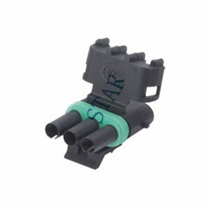 Waterproof 3 Pin Delphi Auto Female Connector ST3031-2.5-21