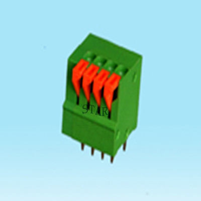 2.5mm pitch green screwless terminal block ST5001-2.50