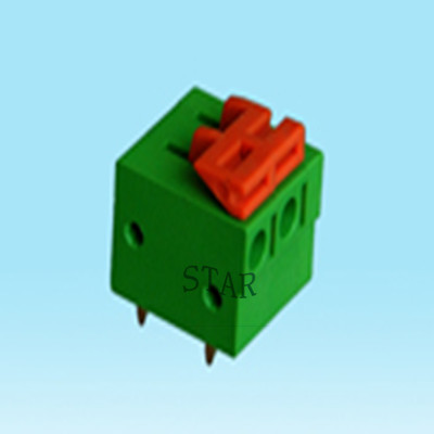 5.08mm pitch screwless pcb terminal block ST5102-5.08