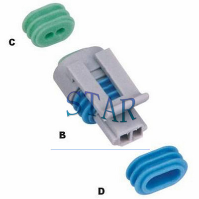 Delphi automotive 2 pin female connector 12162193
