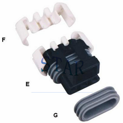 3 pin auto Delphi female connector 12110293