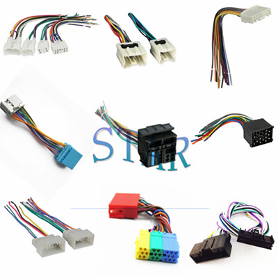 good quality different types of car iso wire harnesses,honda nissan toyota  radio gps connector manufacturer| star electronic
